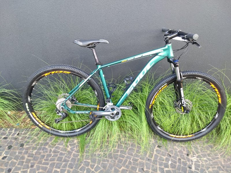 Bicicleta SL 129 Verde e Branca Aro 29