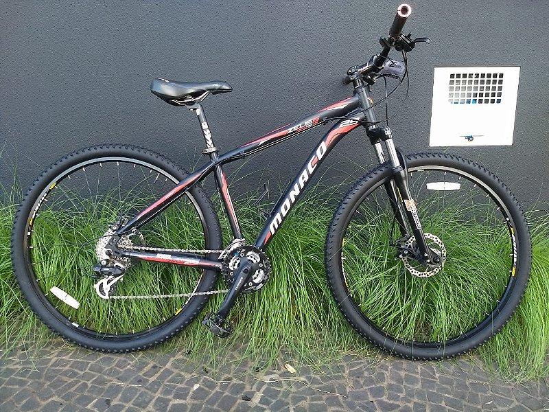 Bicicleta Mônaco Preta e Vermelha Aro 29