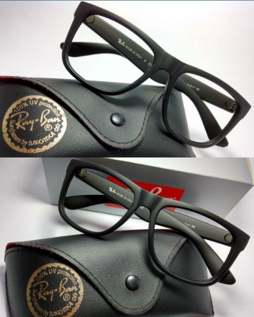 1c9c14600 Óculos Armação para Grau Ray-Ban Justin 4165 Preto Fosco Masculino e  Feminino