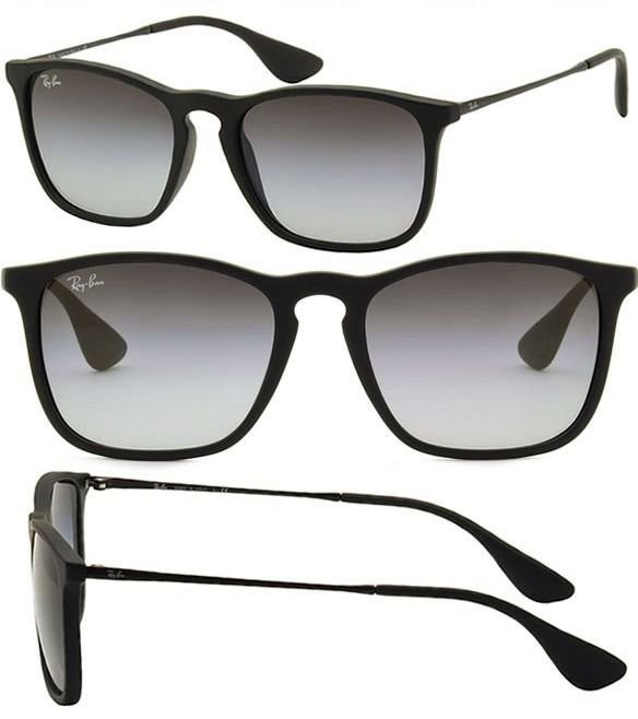 d0d7cd8464bb4 Óculos de Sol Chris Preto Ray-Ban Fosco Degradê Masculino e Feminino ...