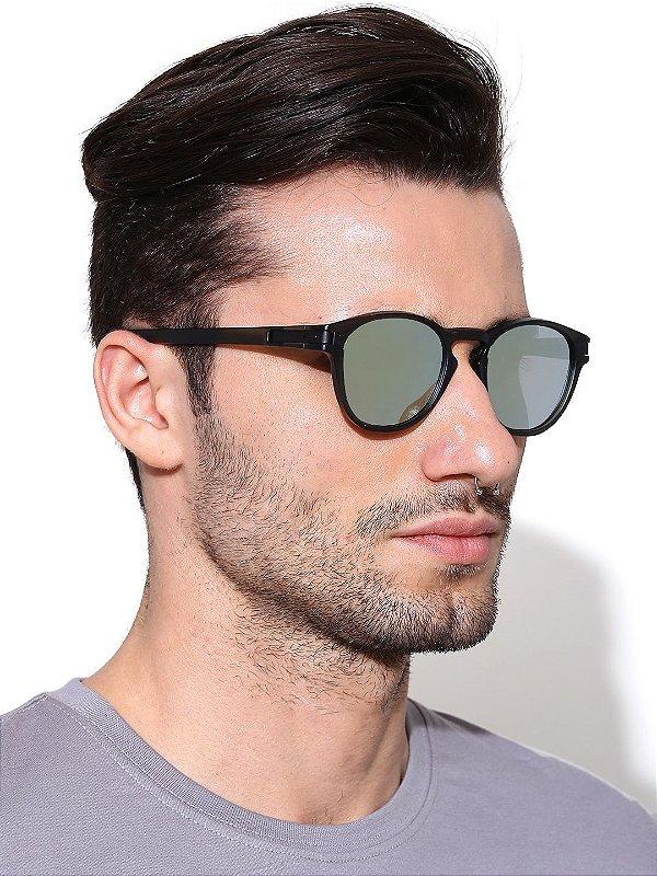 959e5869bbc0f Óculos de Sol Oakley Round Espelhado Prata Latch Squared Lançamento  Masculino e Feminino