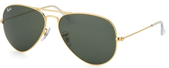 Óculos de Sol Aviador Ray-Ban 3026 Metal Dourado Lente Verde Clássico  Masculino e Feminino adeca74cc5