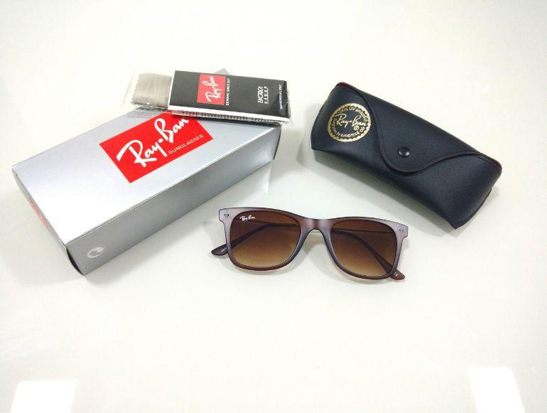 b4c844a3a05b9 Óculos de Sol Ray-Ban Wayfarer Slim Marrom Degradê Masculino e Feminino