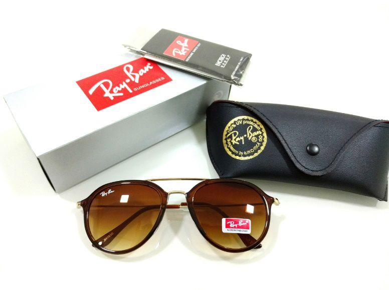 7ef4ebc9c Óculos de Sol Ray-Ban Aviador 3026 Marrom Degradê Acetato Lançamento  Feminino e Masculino