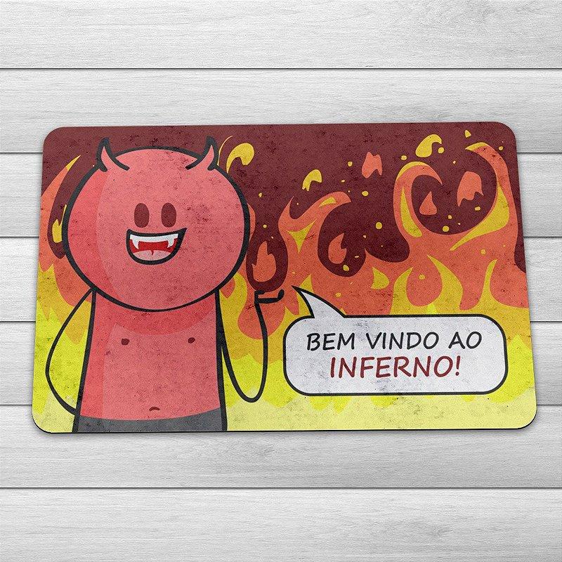 Bem Vindos Ao Inferno Elenco: Capacho Eco Slim 3mm DrPepper Diabinho Bem Vindo Ao