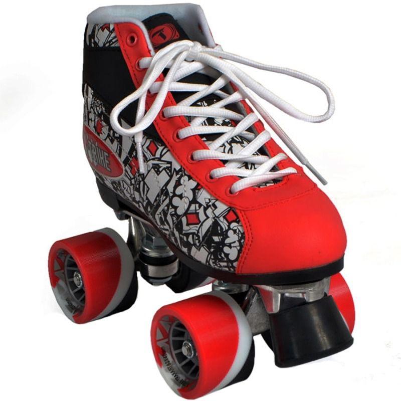 Patins Quad 4 Rodas Traxart X-trike Vermelho Aluminium 6a6214e236f