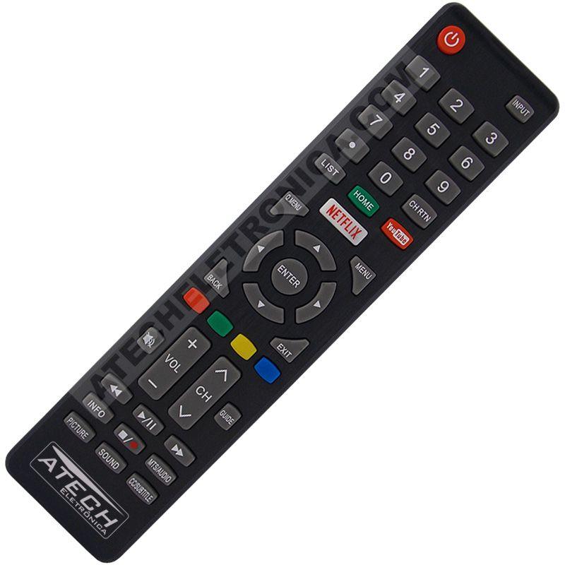 Controle Remoto TV LED Cobia CTV50UHDSM com Netflix e Youtube (Smart TV)