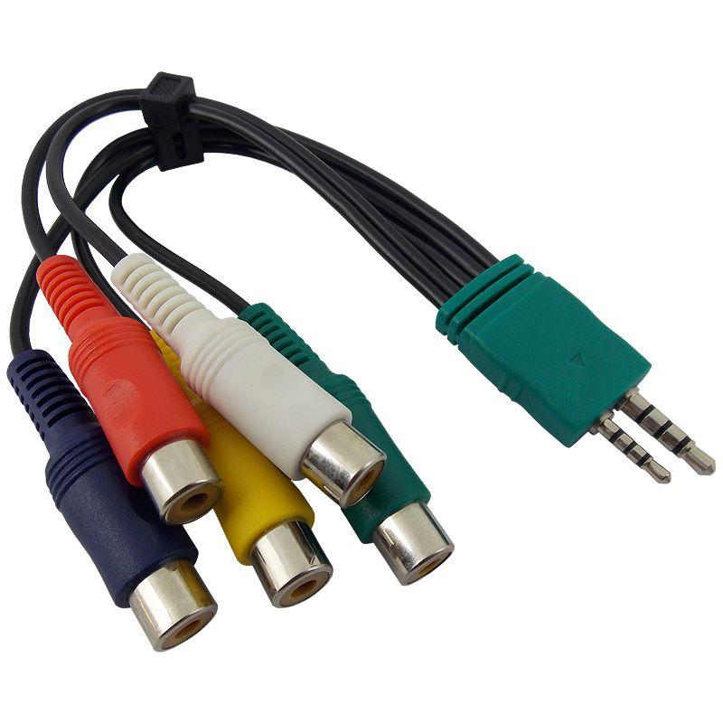 Cabo Adaptador Áudio & Vídeo e Vídeo Componente TV Plasma / LCD / LED Samsung