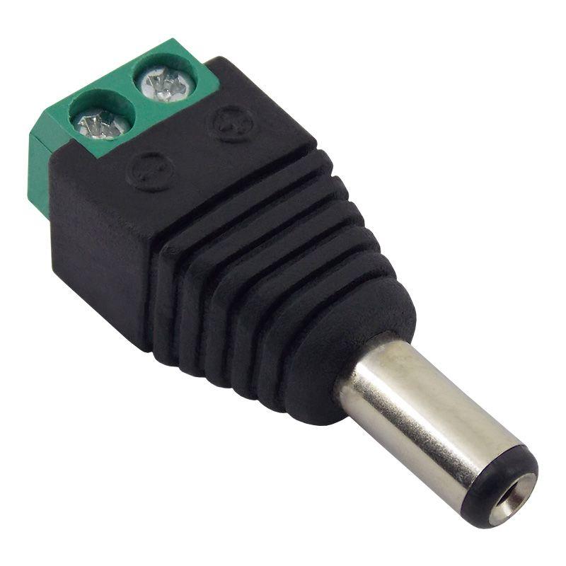 Conector P4 Macho com Borne para Sistema de Segurança (CFTV)