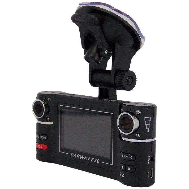 """Câmera Para Carros Dupla com Monitor LCD 2,7"""" (Filmadora Veicular Interna)"""