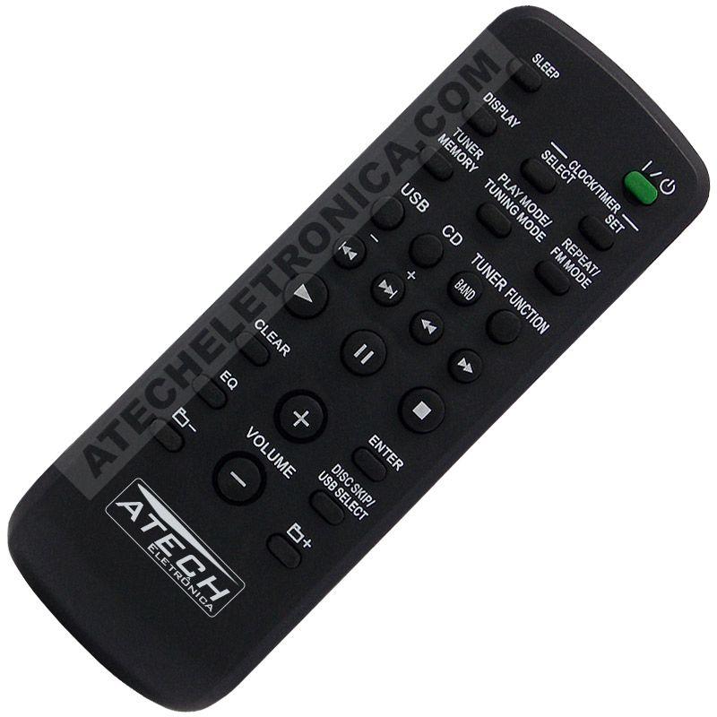 Controle Remoto Aparelho de Som Sony RM-SCU37B / CMT-LX10R / CMT-FX200 / FST-SH2000 / MHC-EC590 / MHC-EC599 / MHC-ESX6 / MHC-ESX8 / MHC-ESX9 / MHC-EX66 / MHC-EX88 / MHC-EX99 / ETC