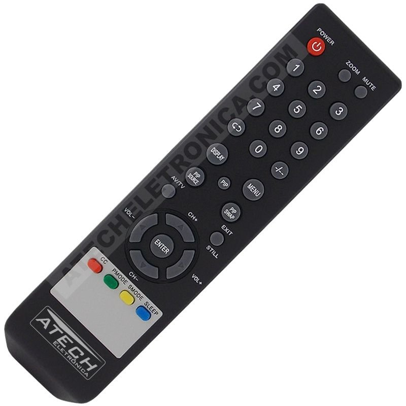 Controle Remoto TV Monitor LCD / LED Lenoxx RC-702 / TV-7019P / TV-7023 / TV-7119