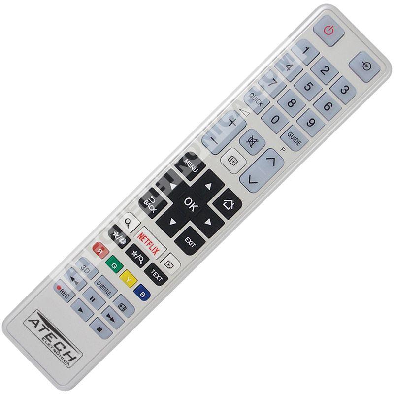Controle Remoto TV LED Toshiba CT-8054 / 40S3653DB / 55S3653DB com Netflix (Smart TV)