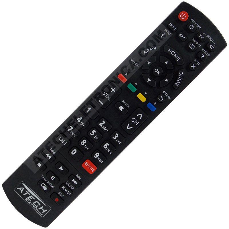 Controle Remoto TV LCD / LED Panasonic TNQ2B4903 / TC-32AS600B / TC-39AS600B / TC-42AS610B / TC-50AS600B (Smart TV)