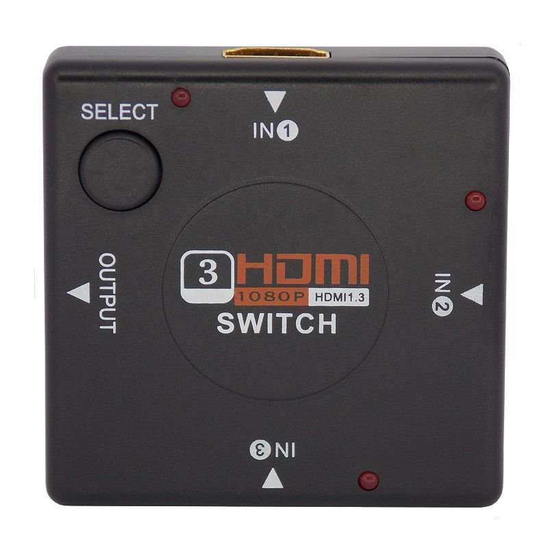 Mini Chaveador HDMI (Hub Switch) 3 Entradas