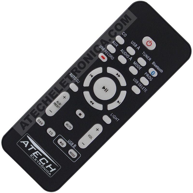 Controle Remoto Som Mini Hi-Fi System Philips NTX600 / NTRX700X / ETC
