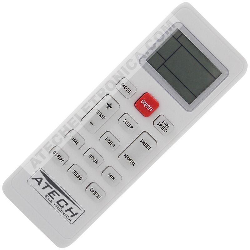 Controle Remoto Ar Condicionado Philco PAC9000TFM9 / PAC12000TFM9