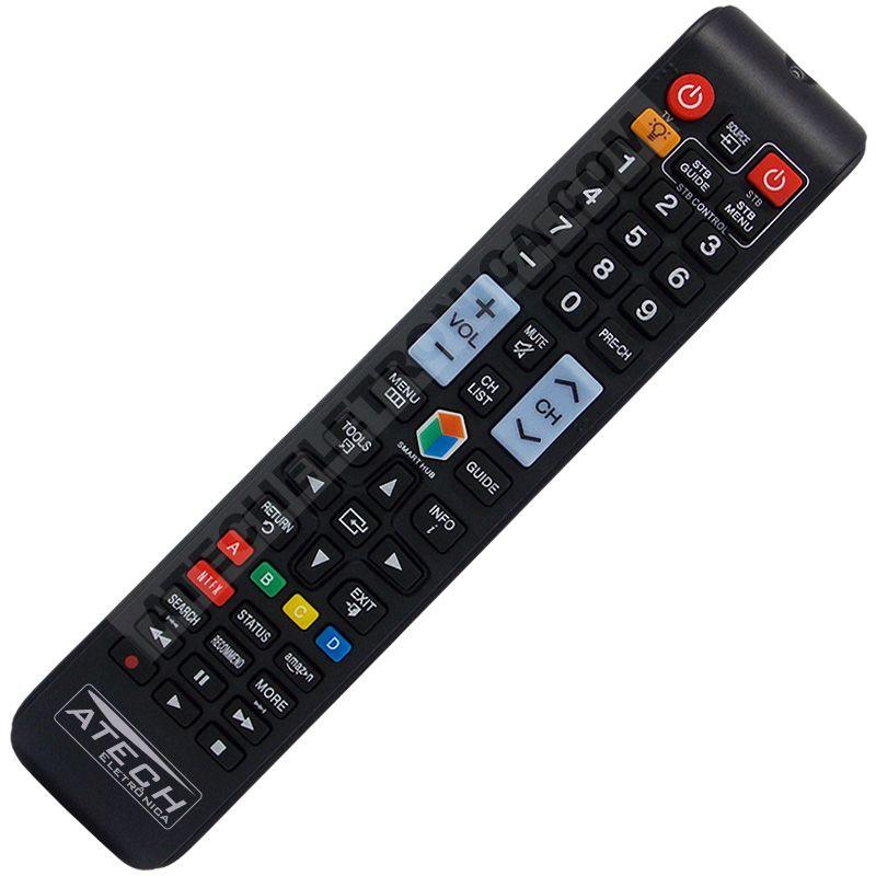 Controle Remoto TV LED Samsung AA59-00784C com Netflix e Amazon (Smart TV)
