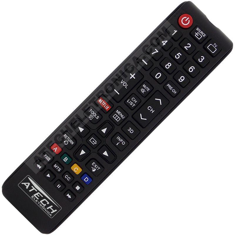 Controle Remoto TV LED Samsung com Netflix - Todos os Modelos (Smart TV)