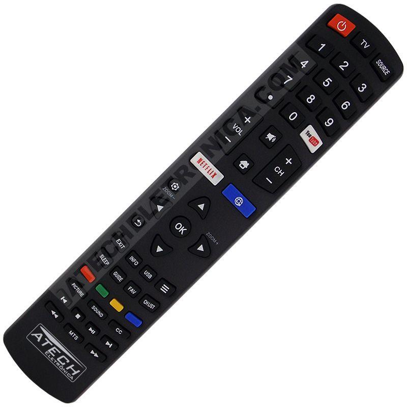 Controle Remoto TV LED Philco com Netflix / Youtube / Internet (Smart TV)