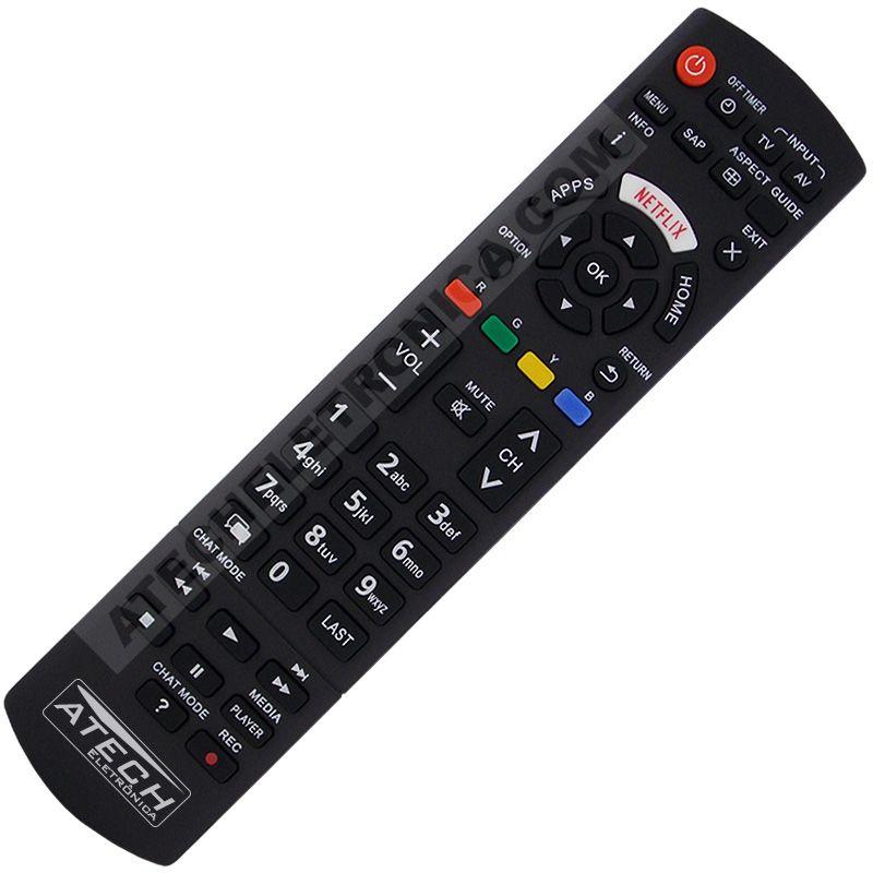 Controle Remoto TV LCD / LED Panasonic com Netflix / Apps