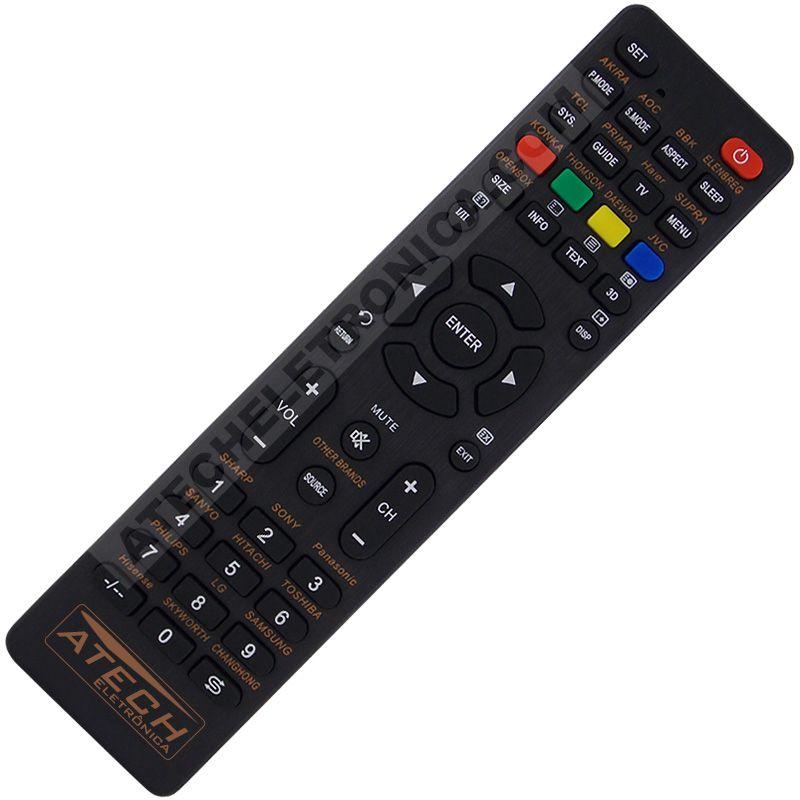 Controle Remoto Universal TV LED / LCD / Smart TV - Mais de 30 Marcas Nacional e Importada
