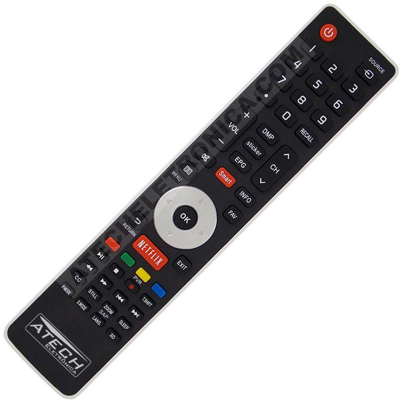 Controle Remoto TV LED Hisense ER-33911HS com Netflix (Smart TV)