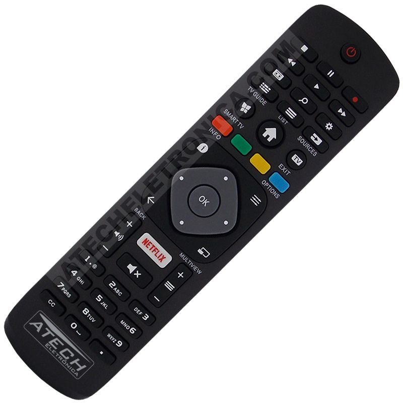 Controle Remoto TV LED Philips 32PHG5102 / 43PFG5102 com Netflix (Smart TV)