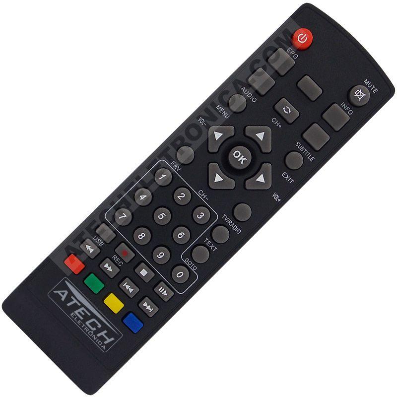 Controle Remoto Conversor Digital Novacom DTV-100