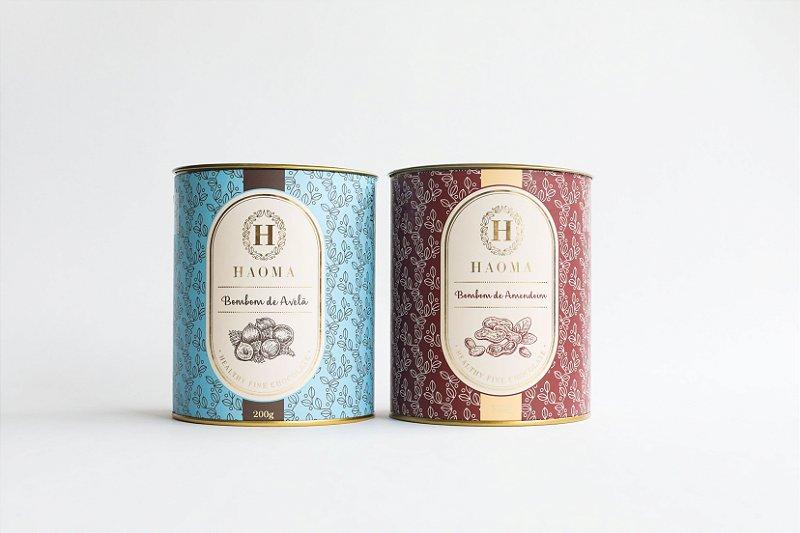Bombom de Chocolate Belga Avelã e Bombom de Chocolate Belga Amendoim