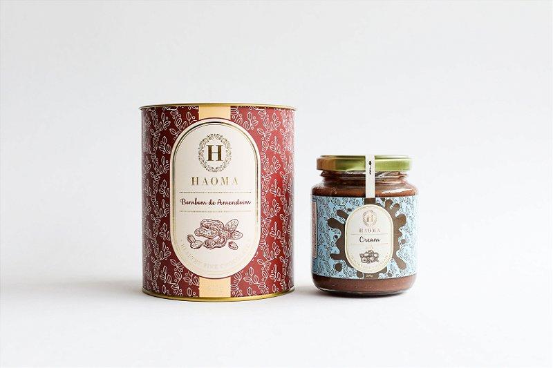 Bombom de Chocolate Belga Amendoim e Haoma Cream Avelã