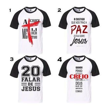 2d6e21673 kit com 5 camisa evangélicas escolha sua estampa - Alfa estamparia