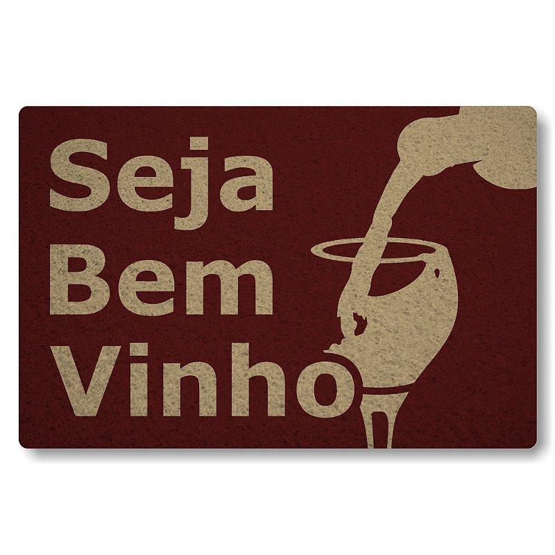 Tapete Personalizado Seja Bem-Vinho - Bordo