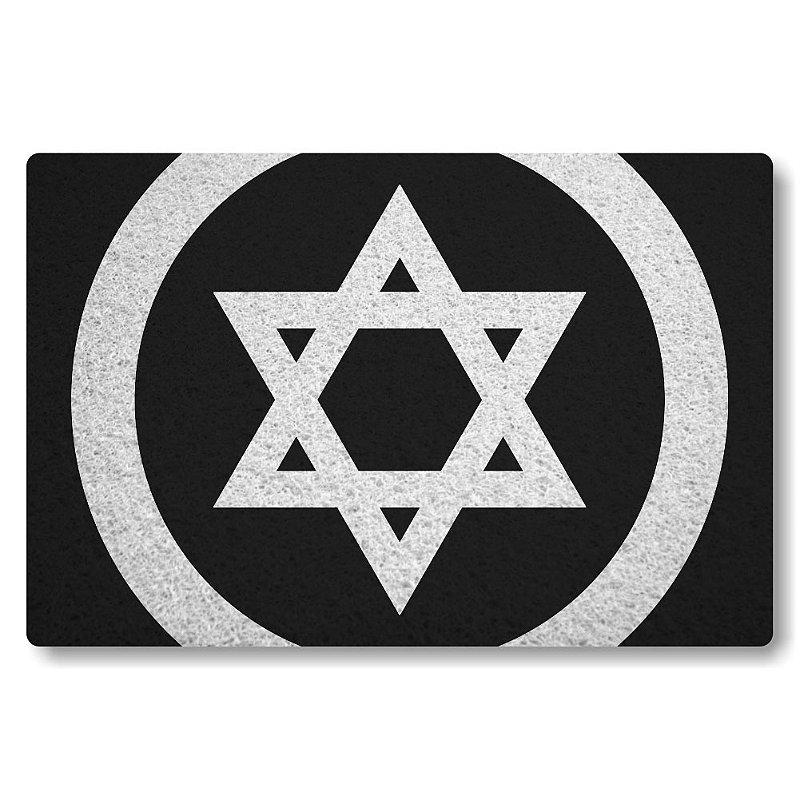 Tapete Personalizado Estrela de Davi - Preto