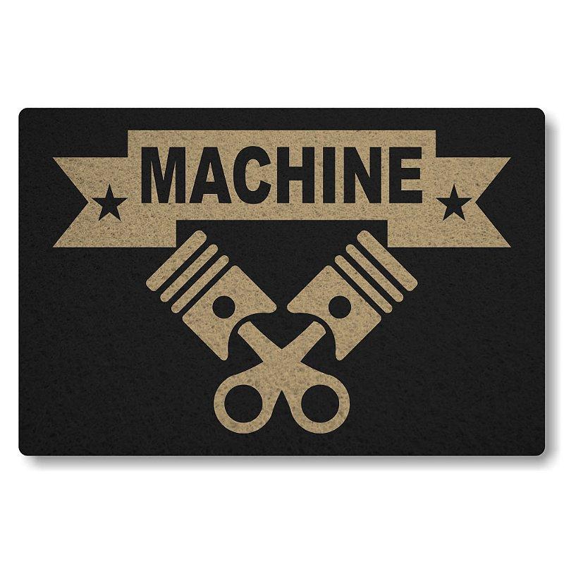Tapete Personalizado Machine - Preto
