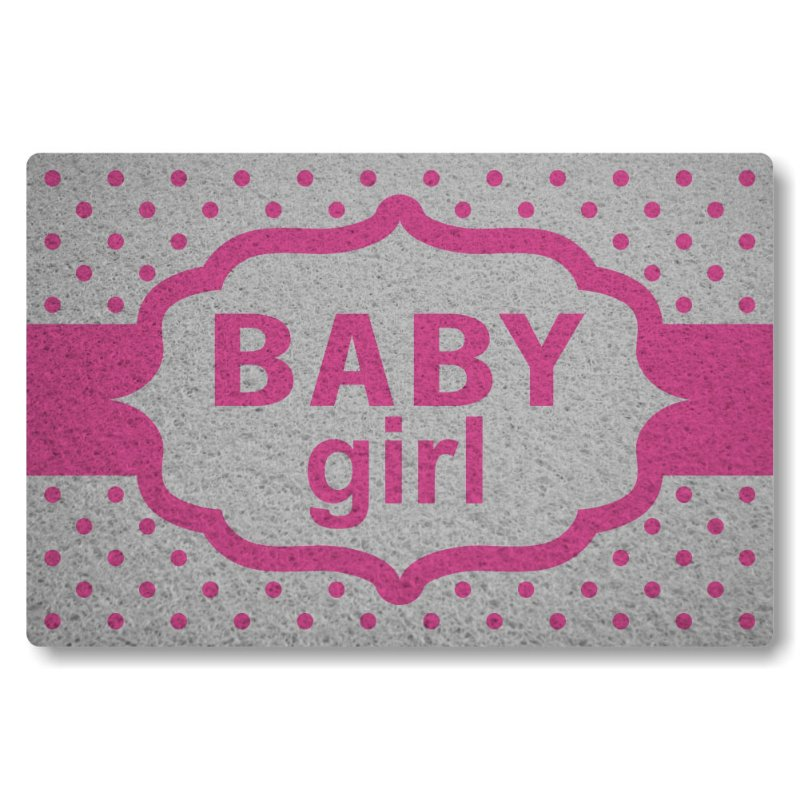 Tapete Personalizado Baby Girl - Prata