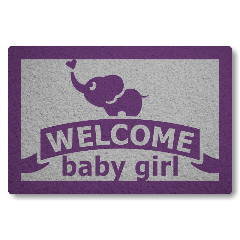 Tapete Personalizado Welcome Baby Girl - Prata