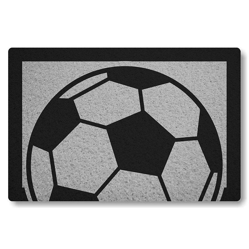 Tapete Personalizado Bola de Futebol - Prata