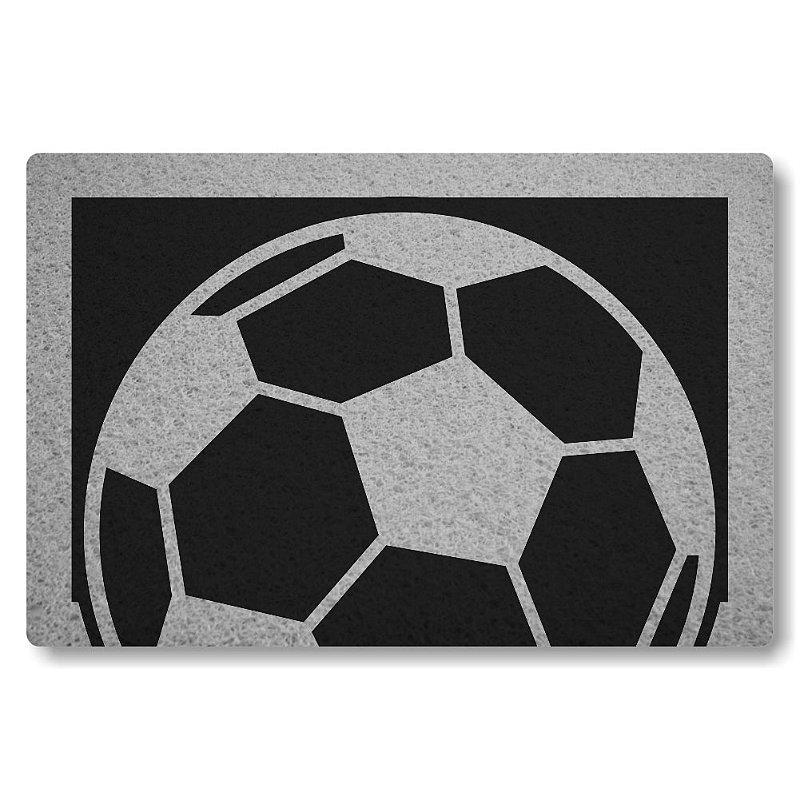 Tapete Personalizado Bola de Futebol - Preto