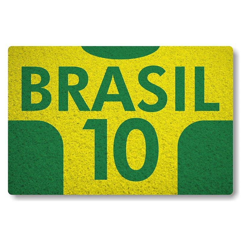 Tapete Personalizado Brasil 10 - Amarelo