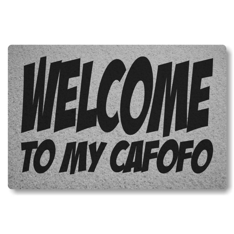 Tapete Personalizado Welcome To My Cafofo - Prata