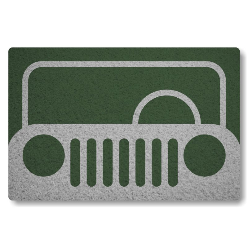 Tapete Personalizado Frente de Jeep - Verde Musgo