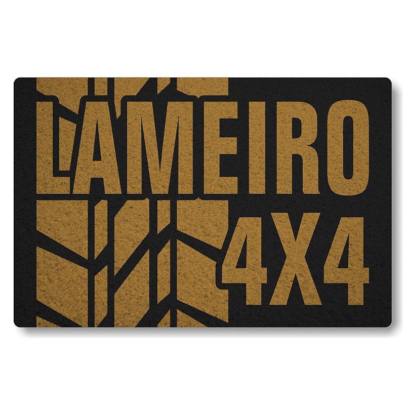 Tapete Personalizado Lameiro 4x4 - Preto