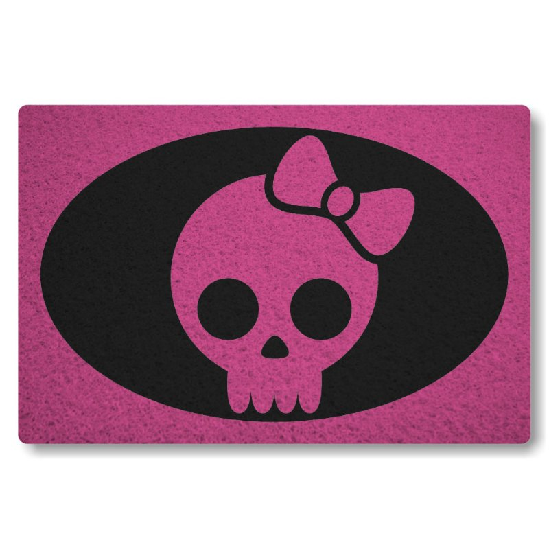 Tapete Personalizado Caveira Girl - Rosa Pink