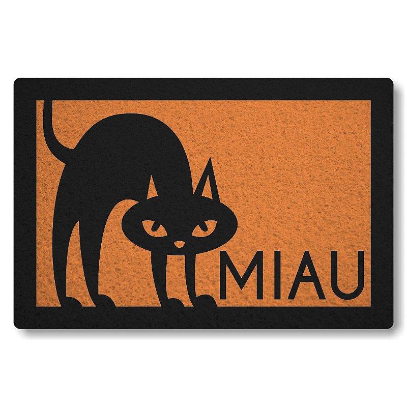 Tapete Personalizado Gato Miau - Laranja