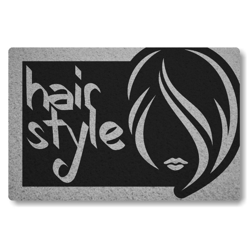 Tapete Personalizado Hair Style - Preto
