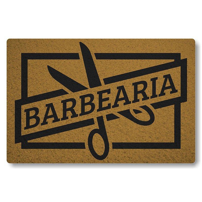 Tapete Personalizado Barbearia - Ouro