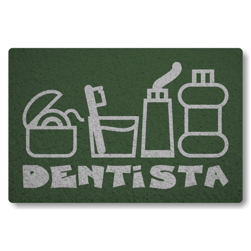 Tapete Personalizado Dentista - Verde Musgo