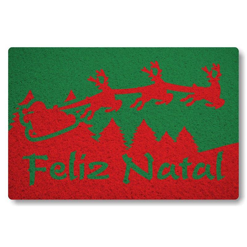 Tapete Personalizado Feliz Natal II - Verde Bandeira