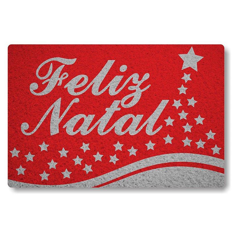 Tapete Personalizado Feliz Natal - Vermelho